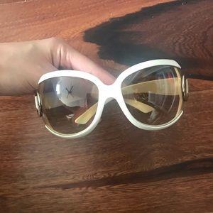 Beautiful ivory colored dior sunglasses